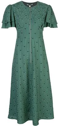ALEXACHUNG Floral-Print Zip Detail Dress