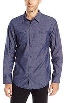 Burnside Men's Crushin It Long Sleeve Button Down Woven Shirt