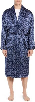 Majestic International Sapphire Silk Robe