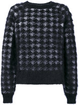 Haider Ackermann houndstooth pattern jumper - men - Silk/Mohair/Wool - S