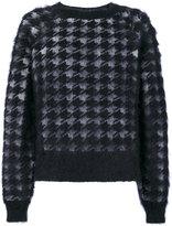 Haider Ackermann houndstooth pattern jumper