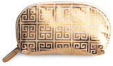 Rosanna Jet Setter Gold Greek Key Cosmetic Purse