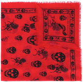 Alexander McQueen skul and badge scarf