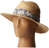 San Diego Hat Company RHF6004 Straw Panama Fedora w/ Palm Leaf Band Fedora Hats