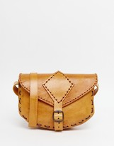 Hiptipico Handmade Colored Leather Saddle Bag