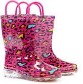 Western Chief Pink Cutie Leopard Lighted Rain Boot