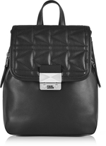 Karl Lagerfeld K/Kuilted Black Leather Small Backpack