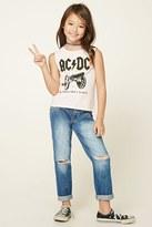 Forever 21 FOREVER 21+ Girls Distressed Jeans (Kids)