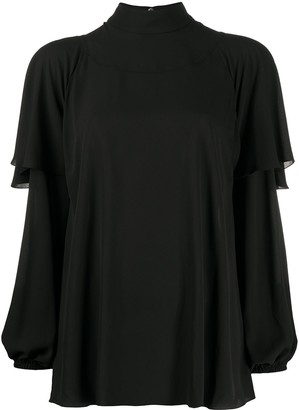 Philosophy di Lorenzo Serafini Roll-Neck Ruffled Top