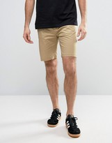Penfield Yale Solid Chino Shorts Straight Tricolour Waist In Beige