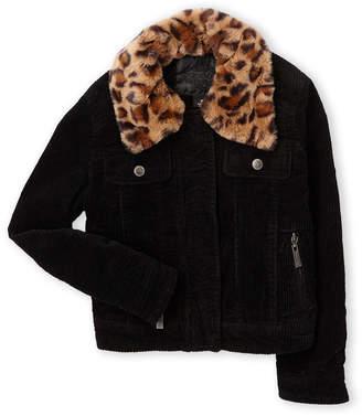 Joujou Jou Jou (Girls 7-16) Faux Fur-Collar Corduroy Jacket
