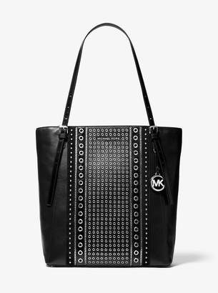MICHAEL Michael Kors Megan Large Grommeted Leather Tote Bag