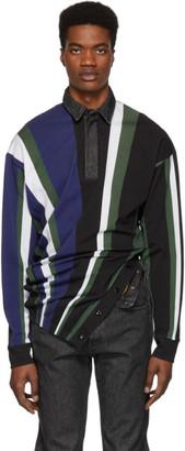 Diesel Red Tag Multicolor Glenn Martens Edition Striped Pique Polo
