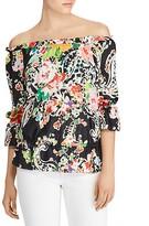 Lauren Ralph Lauren Printed Off-the-Shoulder Top