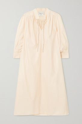 Forte Forte Cotton-blend Midi Dress - Ecru