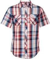 Burnside Mens Plaid Short Sleeve Shirt -BLUE/BLACK -XL