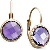 Macy's 14k Gold Earrings, Bezel Set Amethyst Drop (3-1/2 ct. t.w.)