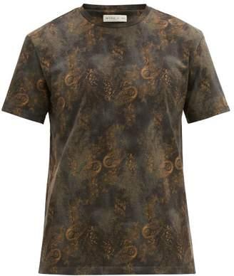 Etro Paisley-print Cotton T-shirt - Mens - Blue Multi
