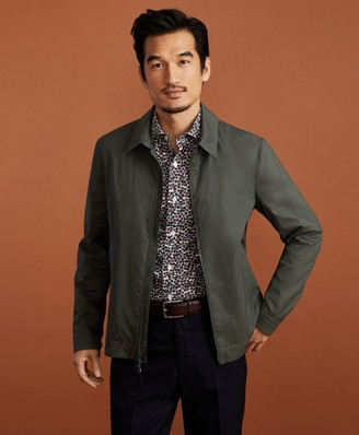 Brooks Brothers Golden Fleece Wool-Silk Bomber Jacket