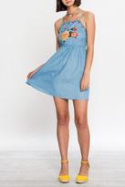 Flying Tomato Denim Embroidered Dress