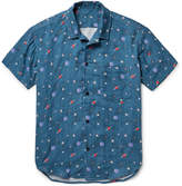 The Elder Statesman Camp-Collar Printed Cotton-Gauze Shirt