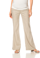 A Pea in the Pod Pull On Style Linen Wide Leg Maternity Pants