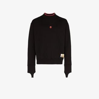 Boramy Viguier High Neck Patch Sweatshirt