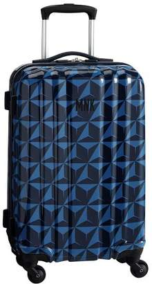 Pottery Barn Teen Channeled Hard-Sided Blue Pinnacle Carry-on Spinner, 22&quot