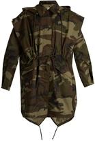 Maison Margiela Camouflage-print hooded cotton jacket