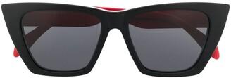 Alexander McQueen Eyewear Two-Tone Cat Eye-Frame Sunglasses