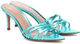 Gianvito Rossi Lita 70 metallic leather sandals