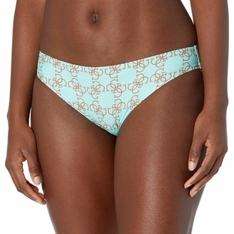 GUESS Women's Logo Printed Brief Swim Bottom