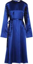 J.W.Anderson Flocked Silk-Satin Midi Dress