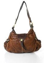Hogan Brown Leather Hobo Handbag Size Small