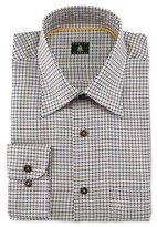Robert Talbott Houndstooth Woven Dress Shirt, Tan