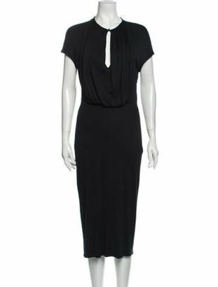 Alexander McQueen Vintage Midi Length Dress Black