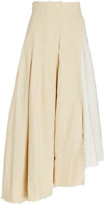 Aje Parchment Linen Midi Skirt