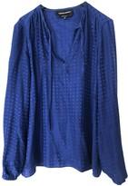 Vanessa Seward Blue Silk Top for Women