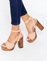 Asos TIMER Leather Heeled Sandals