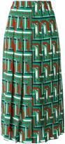 Gucci bridal strap print skirt - women - Silk - 42