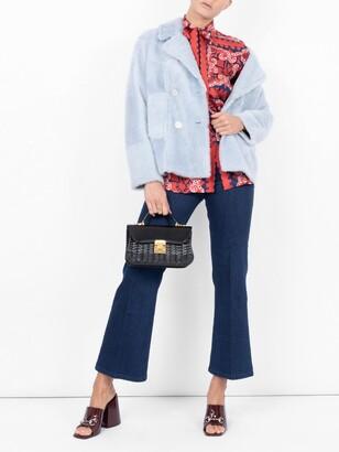 Valentino geometric paisley blouse red