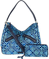 Vera Bradley As Is Signature Print Vivian Hobo & RFID Wallet