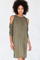 Silence & Noise Silence + Noise Cold Shoulder Cocoon Mini Dress