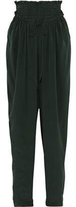 Sea Solange Smocked Silk Wide-leg Pants