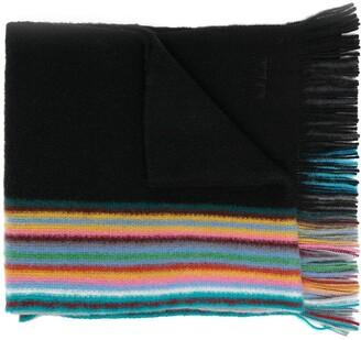 Paul Smith Reversible Multiple-Edge Virgin Wool Scarf