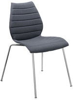 Kartell Maui Soft Chair - Kvadrat Divina 3 Fabric - Grey