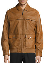 Tommy Bahama Santiago Aviator Leather Jacket