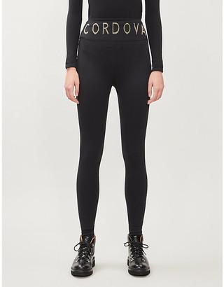 Cordova Logo-print stretch-woven leggings