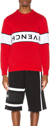 Givenchy Upside Down Logo Sweater in Red & White | FWRD