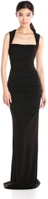Nicole Miller Women's Felicity Stretchy Matte Jersey Gown